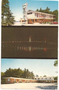 First Riviera Motel of Mackinaw Postcard